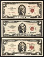 Usa 2 $ 1953 1953 A + 1953 B + 1963 A + 1976 X 7 Pz ( Tot 11 Biglietti ) Lotto 032 - Billetes De Estados Unidos (1928-1953)