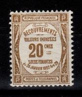 Taxe YV 45 N* (trace) Cote 50 Euros - Taxes