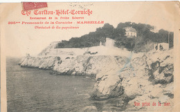 MARSEILLE - THE CARLTON HOTEL CORNICHE - RESTAURANT DE LA PETITE RESERVE 395 Bis PROMENADE DE LA CORNICHE - VUE PRISE DE - Endoume, Roucas, Corniche, Stranden