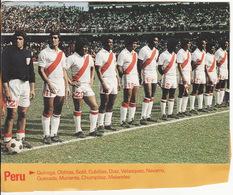 COUPE DU MONDE DE FOOTBALL 1978 **Equipe Du Pérou** - Fútbol