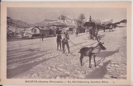 74 Megève - En Ski-kdjoering Derrière Néva Animal Renne - Megève