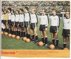COUPE DU MONDE DE FOOTBALL 1978 **Equipe D'Autriche, Osterreich** - Voetbal