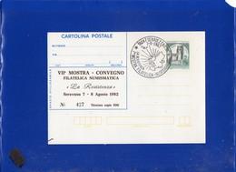 ##(DAN203)- 1982-Cartolina Postale L.200 Stampa Privata-repiquage VII^ Mostra Filatelica La Resistenza-Seravezza-Lucca - 6. 1946-.. Repubblica
