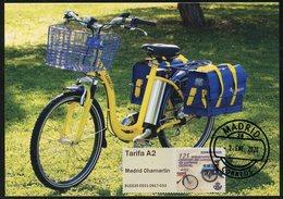 ESPAÑA SPAIN ESPAGNE (2020) - ATM Carte Maximum Card Carteros Ciclistas (postmen, Electric Bicyclette, Vélo, Bicycle) - Maximumkarten