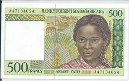 MADAGASCAR   500 Francs   Nd(1994)   -- UNC -- - Madagascar