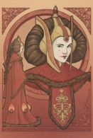 Postcard - Star Wars - Women Of The Galaxy  - Art By - Karen Hallion - Padme Amidala - New - Andere