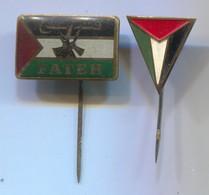 EL FATAH PLO PALESTINE - VINTAGE PIN BADGE, ABZEICHEN, 2 PCS - Associazioni