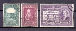 987/989 MOZART GESTEMPELD 1956 - Belgique