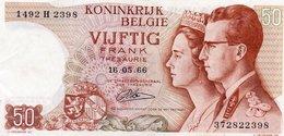 BELGIUM 50 FRANK 1966 P-139   XF++ - 50 Francs