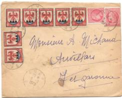 LETTRE...1948..BANDE DE N°758..COMTE DE   NICE...N°676...TBE...SCAN - 1941-66 Wapenschilden