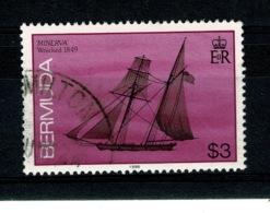 Ref 1342 - 1989 Bermuda Ships $3 - SG 521b Fine Used Stamp - Cat £9.50+ - Bermuda