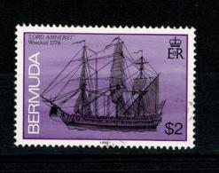 Ref 1342 - 1986 Bermuda Ships $2 - SG 520b Very Fine Used Stamp - Cat £7+ - Bermuda
