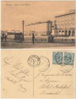 LIVORNO - PIAZZA CARLO ALBERTO - VIAGG. 1910 -45944- - Livorno