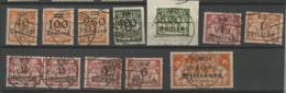 Danzig  1923  Mi.Nr.:158-168 Coat Of Arms 40 Tsd. - 10 Mio. M. Cancelled O - Danzig
