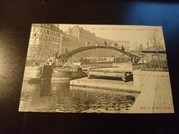 Canal Saint Martin Le Pont Tournant - France