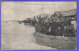 Carte Postale 62. Le Touquet-Paris-Plage Grande Marée  Les Baigneurs Résistent  Très Beau Plan - Le Touquet