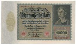 GERMANY10000MARK19/01/1922P70UNC.CV. - 1918-1933: Weimarer Republik