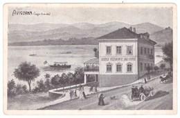 N1L4 Italy Avigliana Lago Grande Albergo Ristorante Lago Grande Old Cars Horses Boats Lake - Bars, Hotels & Restaurants