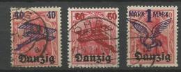 Danzig  1920  Mi.Nr.:50-52  Air Mail Issue Cancelled O - Danzig