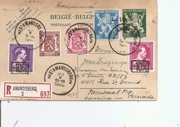 Belgique ( CP De 1946 En Recommandé De Sint-Amandsberg Vers Le Canada à Voir) - 1946 -10%