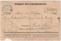 Rare Carte Prisonnier Guerre 7 Juin 1871 / Graudenz Pologne Prusse Orientale /Griffe Et Cachet / Via Suisse / Dufourg 70 - Documenten