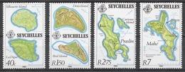 Seychelles 1982 Mi# 503-06** MAPS - Seychelles (1976-...)