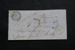 ALLEMAGNE - Devant De Lettre De Leipzig Pour Metz En 1857, à Voir Cachets - L 55512 - Covers