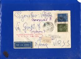 ##(DAN203)-1960-Busta Via Aerea Viaggio Presidente Gronchi In U.R.S.S., Annullo Livorno Sottocapo, RTS Label-al Mittente - 1946-60: Marcofilie