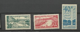 Danzig  1936  Mi.Nr.:259-61 Brösen  Mint  Hinged X - Danzig