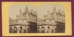100320C - PHOTO STEREO - PARIS Temple Protestant Rue De Rivoli - Photos Stéréoscopiques
