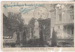 Pomnik Hr. Fredry Przed Teatrem W Krakowie - 1919 - Polonia