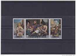 SAINT MARIN 1967 PEINTURES DU GUERCHIN Se Tenant Yvert 694-696 NEUF** MNH - San Marino