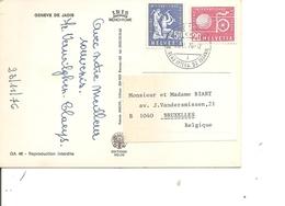 Suisse ( CP De 1976 De Genève Vers La Belgique à Voir) - Officials
