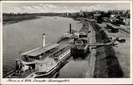 Cp Riesa An Der Elbe Sachsen, Partie An Der Dampferanlegestelle, Elbdampfer Bodenbach - Non Classés