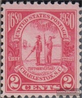 U.S. Mi.-number.: 325 (complete Issue) With Hinge 1930 Founding The Province Carolina - Unused Stamps