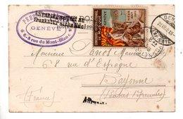 ÉRINNOPHILIE . CPA . GENÈVE . VIGNETTE CONCOURS INTERNATIONAL DE MUSIQUE . AOÛT 1909 - Réf. N°10143 - - Cinderellas