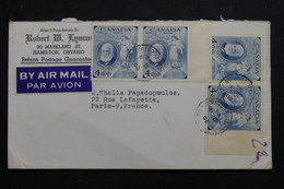 CANADA - Enveloppe Commerciale De Hamilton Pour La France En 1954, Affranchissement Plaisant - L 55532 - Cartas