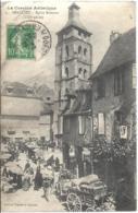 D19 - BEAULIEU - EGLISE ROMANE (XIIIe Siècle) - Nombreuses Personnes (jour De Marchè)-Z. Segol-Chapellerie-Charrettes - Francia