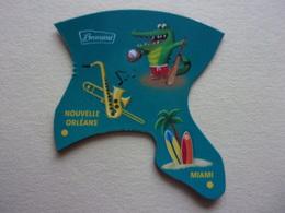 Magnet Brossard Savane Nouvelle Orléans Miami Alligator Caïman Crocodile ? Surf Surtear Surfen - Tourisme