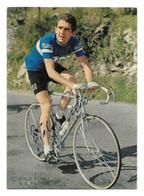 CARTE CYCLISME ITALO ZILIOLI TEAM FILOTEX 1969 ( DECOUPE, FORMAT 10,2 X 14,2 ) - Cyclisme