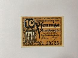 Allemagne Notgeld Kirchberg 10 Pfennig - [ 3] 1918-1933 : République De Weimar