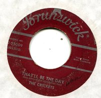 THE CRICKETS THAT'LL BE THE DAY 1957 MAROON LABEL BRUNKSWICK VG+ 5.00 - Rock