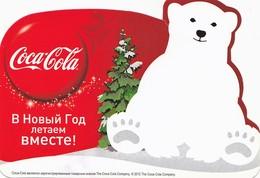 2013  RUSSIA  Russie Drink Coca Cola AIRLINES Aeroflot  Advertising - Polar Bear - Calendarios