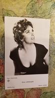 Sexy Actress Gina Lollobrigida   - Old UFA Postcard - 1960s - Actors