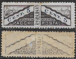 Italia Italy 1928 San Marino Pacchi Postali C5 Decalco Sa N.PP1 Nuovo MH * - Colis Postaux