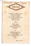 MENU . RESTAURANT À AIGUILLON (47) LE 19 JUIN 1938 - Réf. N°172F - - Menus