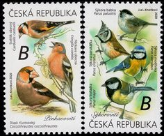 Czech Republic - 2020 - Songbirds - Tits And Finches - Mint Stamp Set - Neufs
