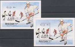 Olympics 1984 - Ice Hockey - BHUTAN - S/S Perf.+imp. MNH - Hiver 1984: Sarajevo