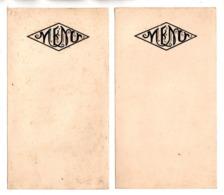 "2 MENUS ANCIENS . MOT "" MENU "" GAUFRÉ - Réf. N°173F - - Menus"