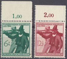 GERMANIA, TERZO REICH - 1944 -Serie Completa Formata Da 2 Valori Nuovi MH Con Margine Di Foglio: Yvert 817/818. - Deutschland